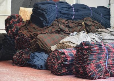 Tweed waiting to be washed