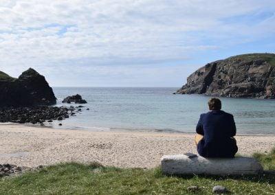 John visiting the Isle of Harris