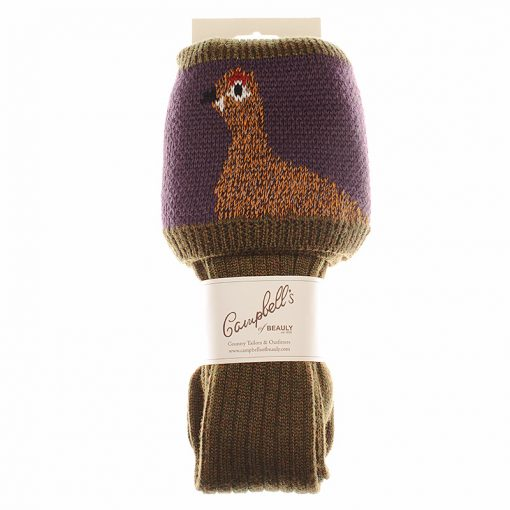 grouse shooting socks bracken thistle packaging