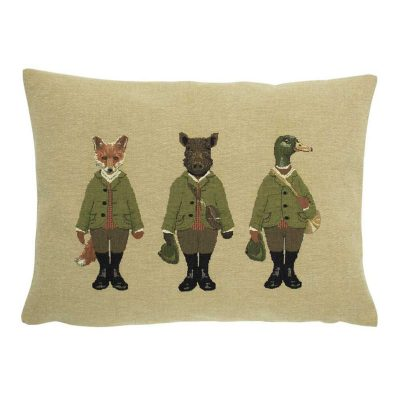 Hunting Friends Fox Cushion