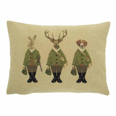 Hunting Friends Rabbit Cushion