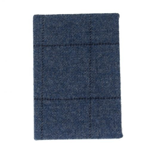 Tweed Notebook Blue check