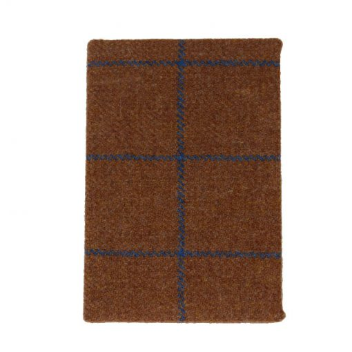 Tweed Notebook Brown check