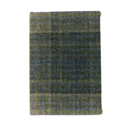 Tweed Notebook Green check