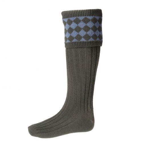 chessboard-shooting-socks-spruce-blue-mix
