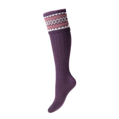lady fairisle socks thistle