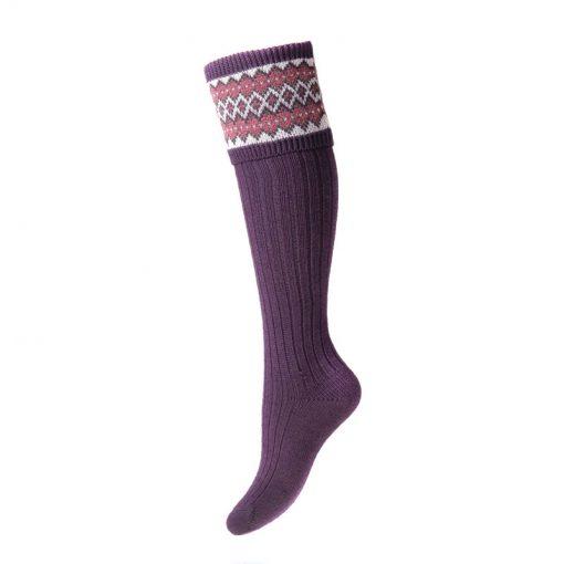 lady fairisle socks thistle