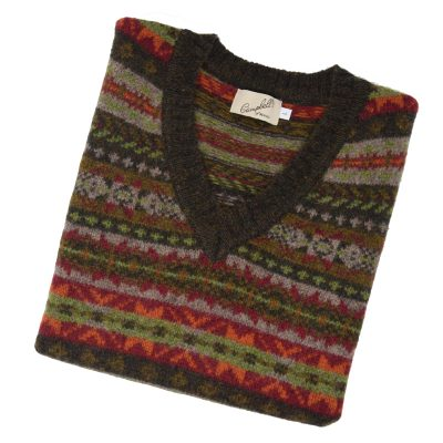Mens fairisle slipover turin