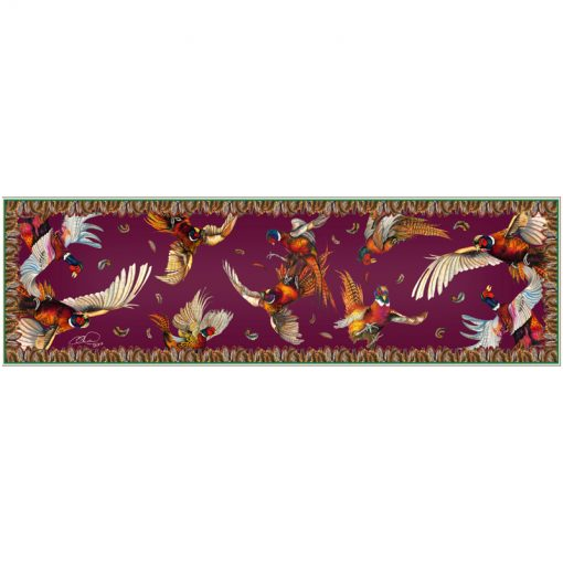 Narrow silk scarf mulberry mayhem