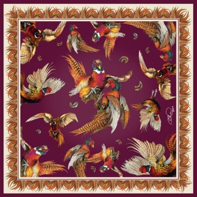 Silk scarf mulberry turf war