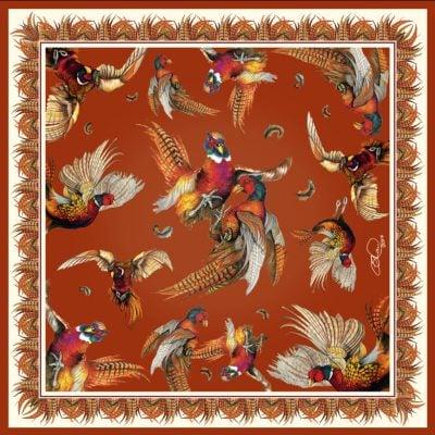 Silk scarf russet turf war
