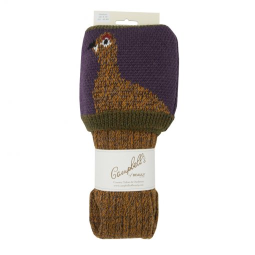 grouse shooting socks marl