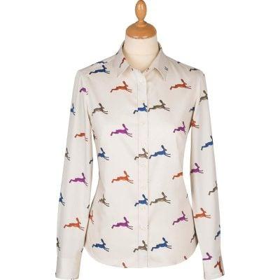 hare print shirt
