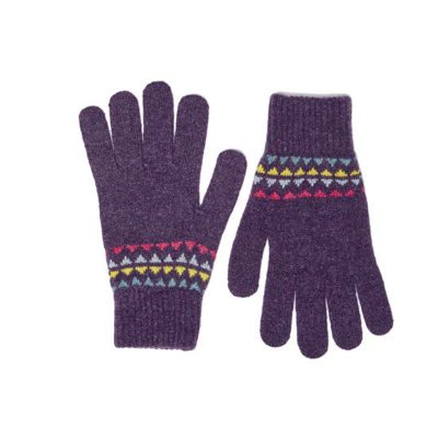 purple lambswool gloves