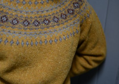 ladies donegal fairisle jumper colour gara
