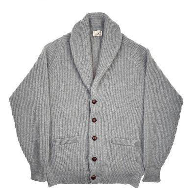 shawl collar cardigan grey