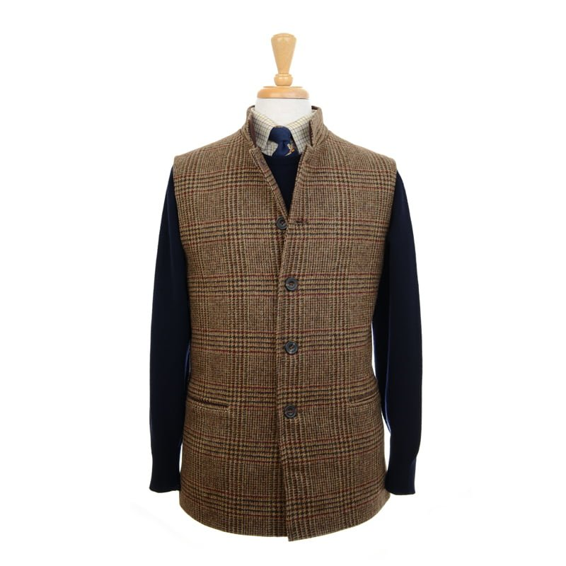new design factory price amazon Tweed Nehru Gilet