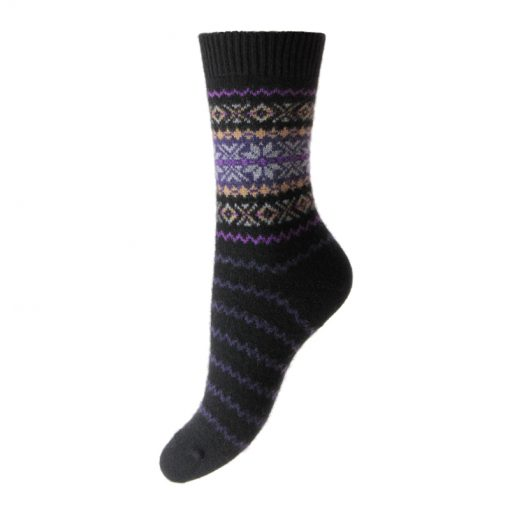 cashmere socks betty black