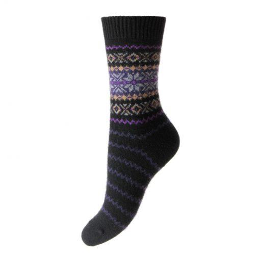 cashmere socks betty black