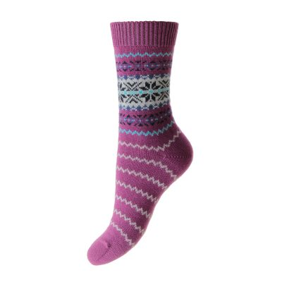 cashmere socks betty purple