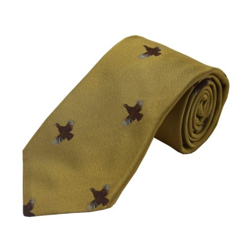 full flight grouse tie gold