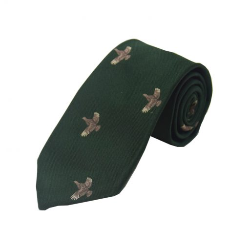 full flight grouse tie green