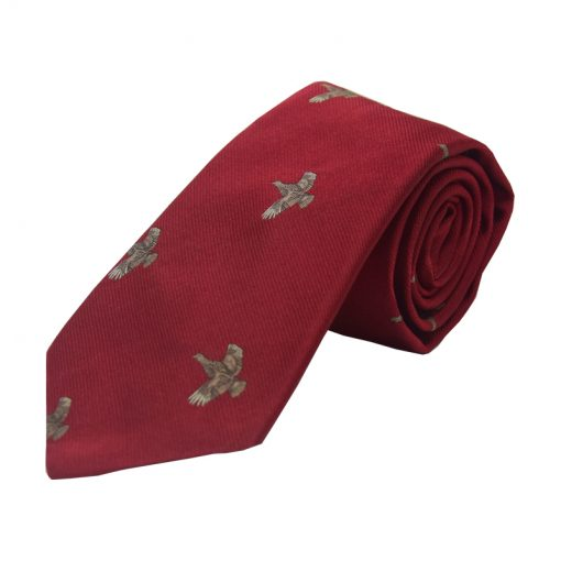 full flight grouse tie red