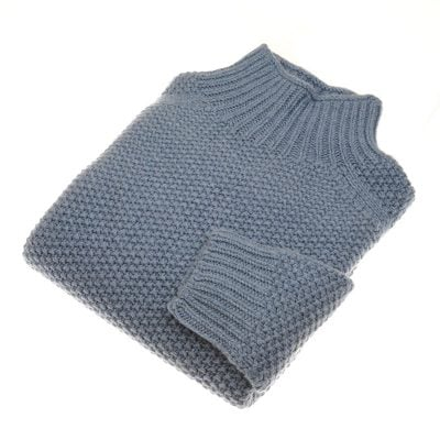 chunky moss stitch poloneck jean