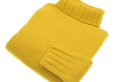 chunky plain poloneck yellow