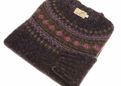 donegal fairisle crew neck jumper bantry