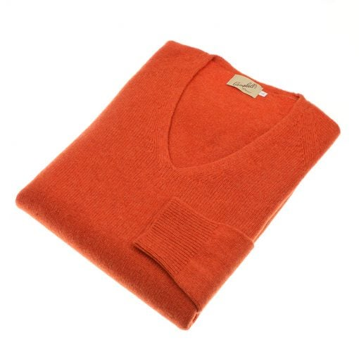 vee neck jumper orange