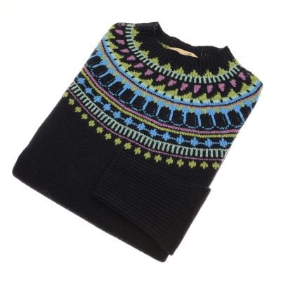 fairisle jumper nero navy