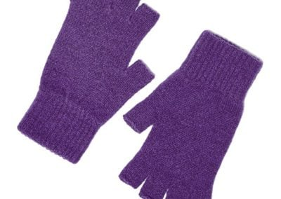 iona fingerless gloves aubergine