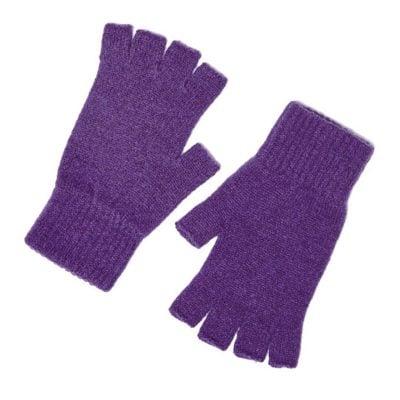 iona fingerless gloves aubergine