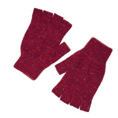 shin fingerless gloves cardinal
