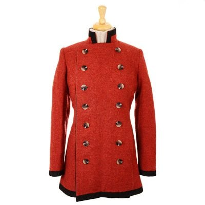 wool pirate jacket rust