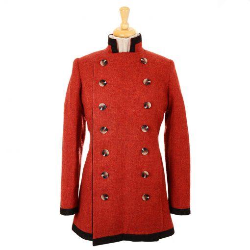 wool pirate jacket rust