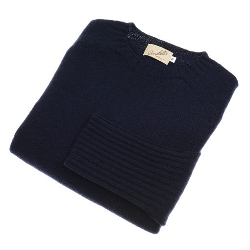 NAVY LAMBSWOOL JUMPER