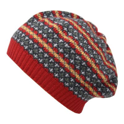 morar fairisle beanie red