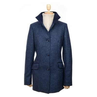 beauly houndstooth navy jacket