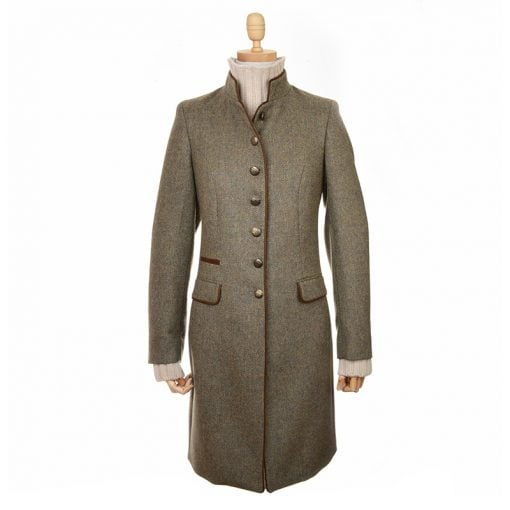 green herringbone tweed millie jacket