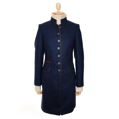 navy tweed millie jacket