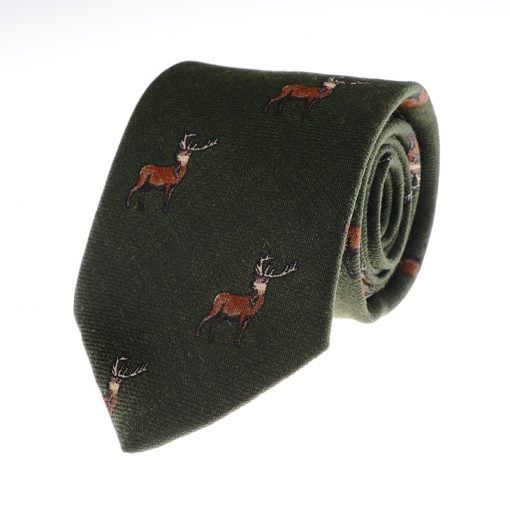 stag-tie-w46242-green