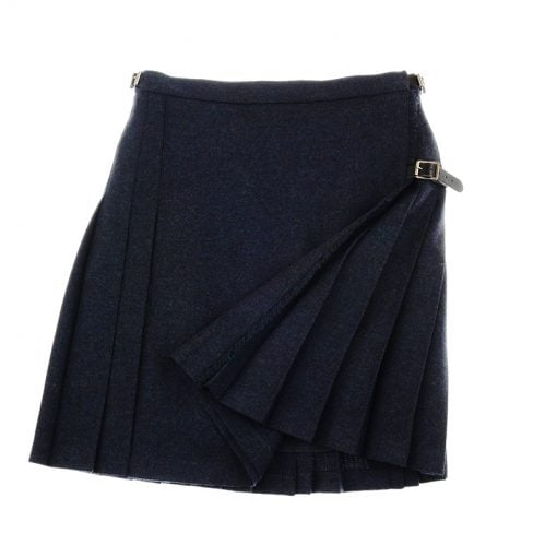 tweed mini kilt midnight and ocean 3