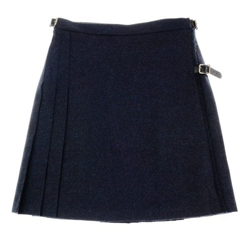 tweed mini kilt midnight and ocean