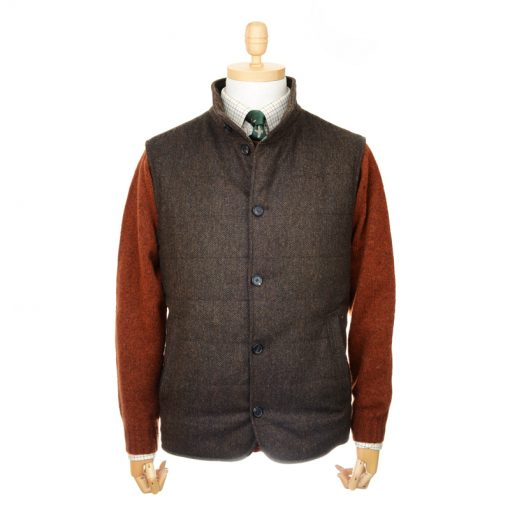 quilted gilet colour brown
