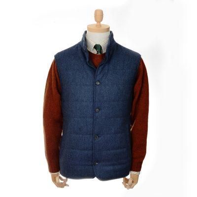 quilted gilet colour blue