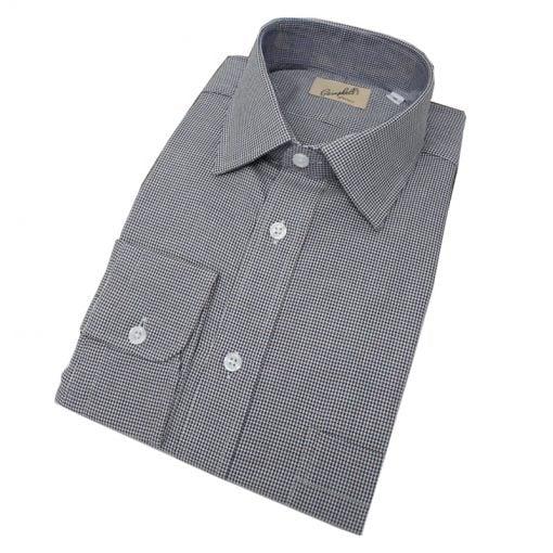 houndstooth-shirt-brownblue