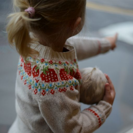 childrens strawberry fairisle jumper