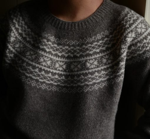 ladies fairisle jumper colour natural
